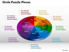 PowerPoint Slides Circle Puzzle Pieces Strategy Ppt Designs