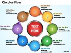 PowerPoint Slides Circular Flow Chart Ppt Templates