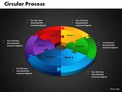 PowerPoint Slides Circular Process Teamwork Ppt Backgrounds