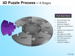 PowerPoint Slides Company Jigsaw Pie Chart Ppt Template
