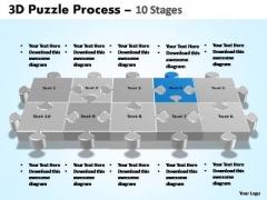 PowerPoint Slides Company Puzzle Process Ppt Presentation