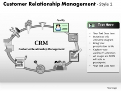 PowerPoint Slides Customer Relationship Management Process Ppt Designs