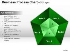PowerPoint Slides Diagram Pentagon Pie Chart Ppt Slide