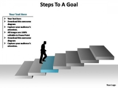 PowerPoint Slides Download Steps To A Goal Ppt Slide