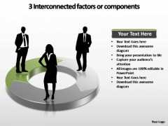 PowerPoint Slides Editable Interconnected Factors Ppt Template