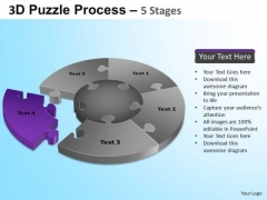 PowerPoint Slides Editable Jigsaw Pie Chart Ppt Slide