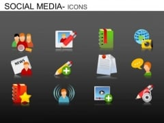 PowerPoint Slides Executive Growth Social Media Icons Ppt Templates