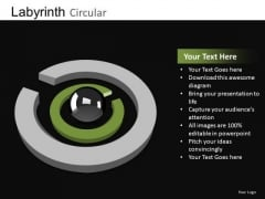 PowerPoint Slides Find Solution Labyrinth Ppt Slides