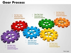 PowerPoint Slides Gears Process Business Ppt Slides