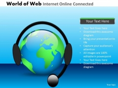 PowerPoint Slides Global Internet Connected Ppt Templates