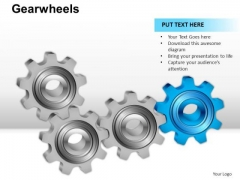 PowerPoint Slides Graphic Gear Wheel Ppt Process