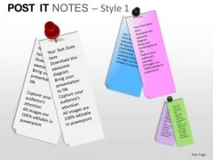PowerPoint Slides Growth Post It Notes Ppt Designs