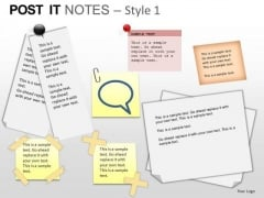 PowerPoint Slides Growth Post It Notes Ppt Templates