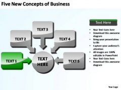 PowerPoint Slides Image Five New Concepts Ppt Theme
