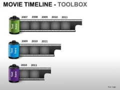 PowerPoint Slides Image Movie Timeline Ppt Themes