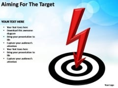 PowerPoint Slides Leadership Aiming For The Target Ppt Template