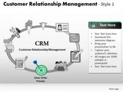 PowerPoint Slides Leadership Customer Relationship Management Ppt Backgrounds