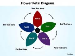 PowerPoint Slides Leadership Flower Petal Ppt Backgrounds