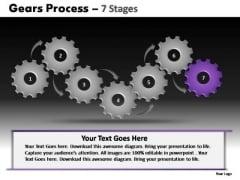 PowerPoint Slides Leadership Gears Process Ppt Presentation