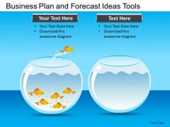 PowerPoint Slides Leadership Jumping Out Fish Ppt Templates