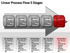 PowerPoint Slides Leadership Linear Process Ppt Theme