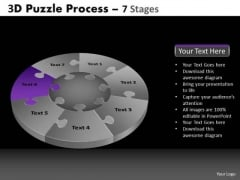 PowerPoint Slides Marketing Pie Chart Puzzle Process Ppt Layouts