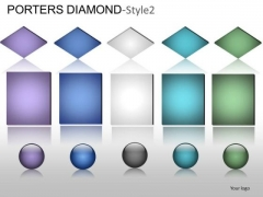 PowerPoint Slides Marketing Porters Diamond Ppt Process