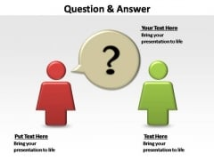 PowerPoint Slides Marketing Question And Answer Ppt Design