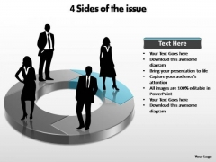 PowerPoint Slides Marketing Sides Of The Issue Ppt Template