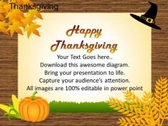 PowerPoint Slides Marketing Thanksgiving Ppt Slides