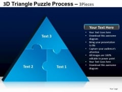 PowerPoint Slides Marketing Triangle Puzzle Ppt Layouts