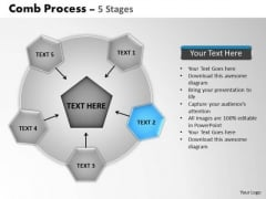 PowerPoint Slides Marketing Wheel And Spoke Process Ppt Slides