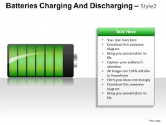 PowerPoint Slides On Batteries Showing Energy Status Ppt Diagrams