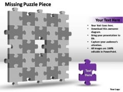 PowerPoint Slides Process 3d 5x5 Missing Puzzle Piece Ppt Theme