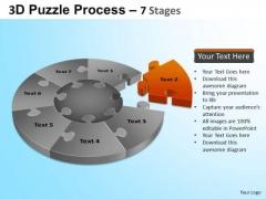 PowerPoint Slides Process Jigsaw Pie Chart Ppt Slides