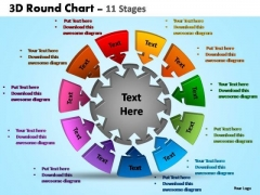 PowerPoint Slides Process Pie Chart With Arrows Ppt Designs