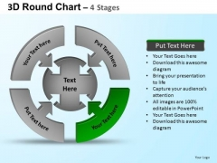 PowerPoint Slides Process Round Process Flow Chart Ppt Backgrounds