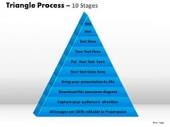 PowerPoint Slides Process Triangle Process Ppt Theme