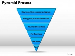 PowerPoint Slides Pyramid Process Business Ppt Slide