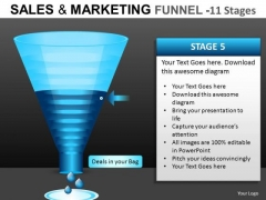 PowerPoint Slides Sales Marketing Funnel Diagrams