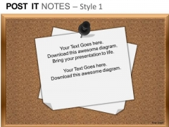 PowerPoint Slides Sales Post It Notes Ppt Themes