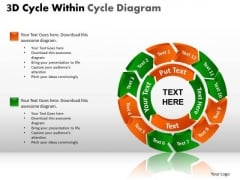PowerPoint Slides Strategy Cycle Process Ppt Presentation
