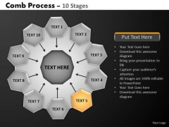 PowerPoint Slides Strategy Hub And Spokes Process Ppt Design