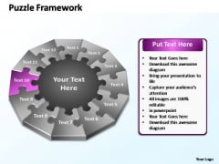 PowerPoint Slides Strategy Puzzle Framework Ppt Theme