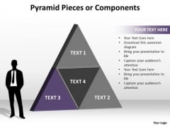 PowerPoint Slides Strategy Pyramid Pieces Ppt Slide Designs