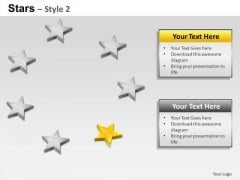 PowerPoint Slides Strategy Stars Ppt Process