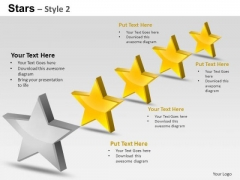 PowerPoint Slides Strategy Stars Ppt Templates