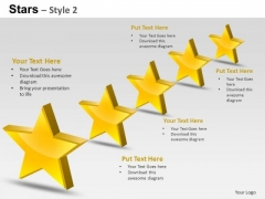 PowerPoint Slides Strategy Stars Ppt Themes