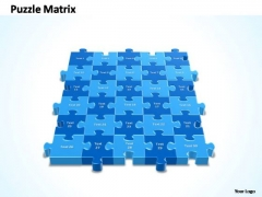 PowerPoint Slides Success 5x6 Rectangular Jigsaw Puzzle Matrix Ppt Slide