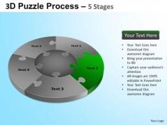 PowerPoint Slides Success Jigsaw Pie Chart Ppt Templates